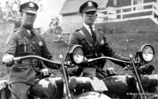 1927 Harleys with Charlie and Eddie Marks twin brothers and troopers