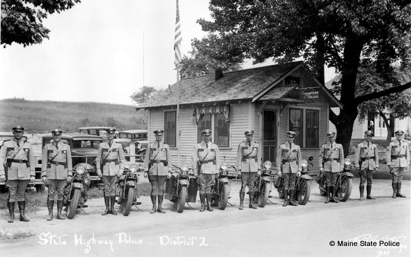 1933 District 2 Troop in Fairfield ME with motorcycles