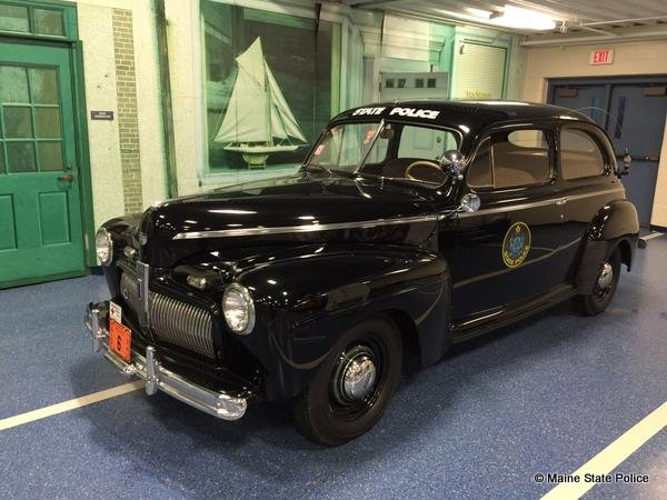 1942 Ford Cruiser, owned by Maine State Troopers Foundation