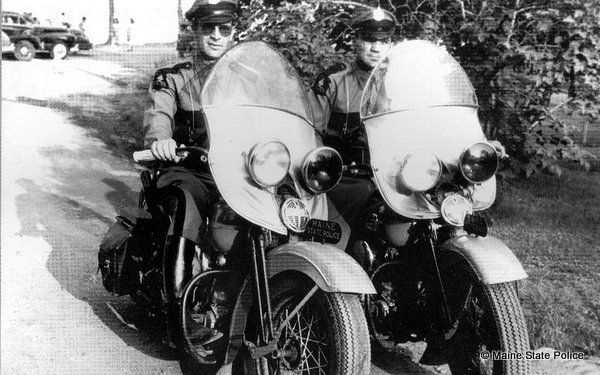 1946 Troopers Harry Brown Herman Boudreau in Madison, ME.
