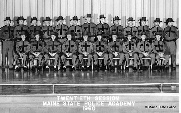 1960 Graduating Class of 20th Training Troop, Maine State Police