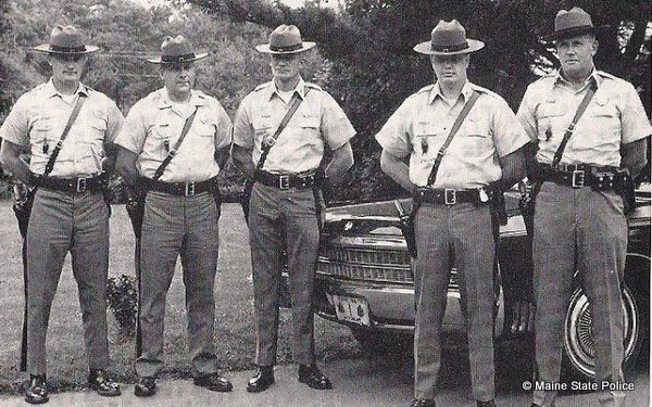 1969 - Governors Conference, Prout's Neck, ME. Troopers Parker-LaMontagne-Redwell-McLLauglin-Farrar