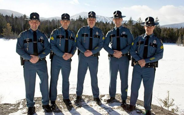 Trooper Aaron Turcotte, Sgt. Darren Foster, Sgt. Matt Casavant, Trooper Keith Barton and Sgt. Peter Michaud at Maine Special Olympics Sugarloaf 2010.
