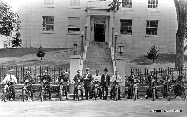 1922 Maine Highway Patrol Harley Davidson motorcycles