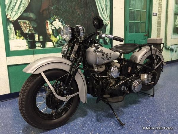 1940 Harley Davidson motorcycle refurbished by Trooper Tom Fiske