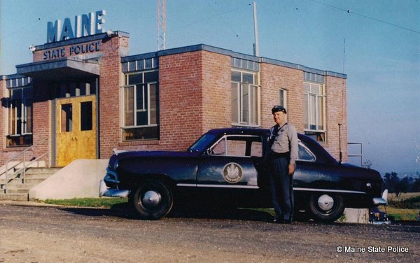 1950 Trooper Stephen Regina Scarboro Barracks 49 Ford cruiser