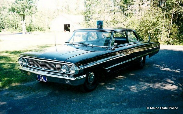 1964 Ford Galaxie Maine State Police vehicle owned by Maine State Troopers Foundation