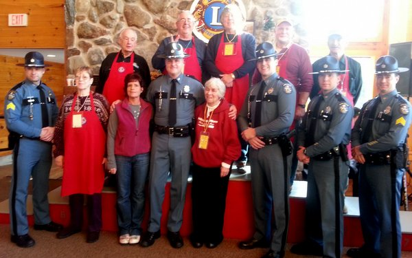 Maine State Troopers at 2015 Maine Special Olympics at Sugarloaf USA