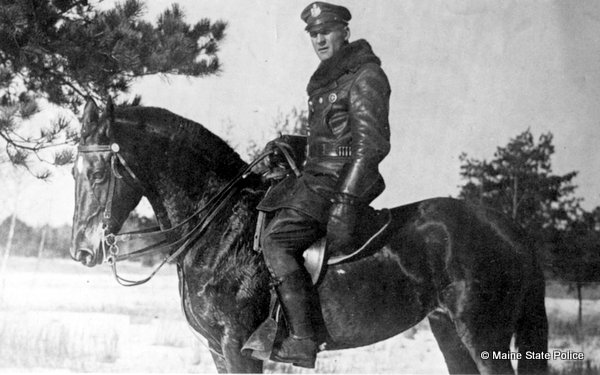 1927 Trooper Carl Wibe with horse