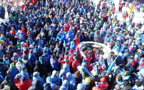 Contestants at the Opening Ceremony, Maine Special Olympics Winter Games, Sugarloaf USA