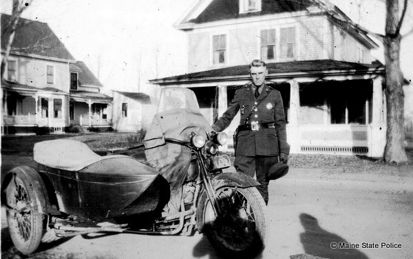 Unidentified Trooper with sidecar