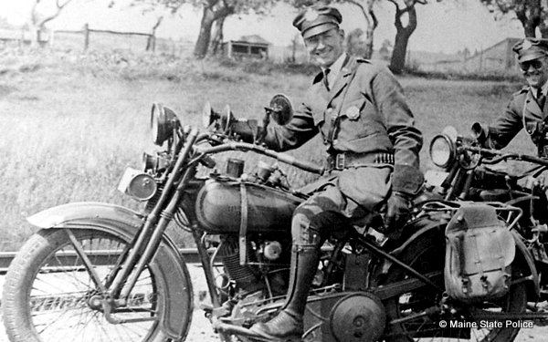 Maine State Police motorcycle trooper