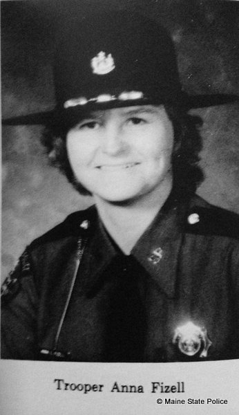 11-17-77 Trooper Anna Polvinen Fizell, West Paris, ME, the first female Maine State Trooper