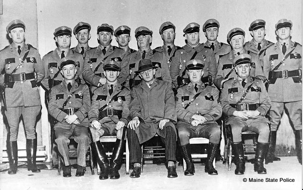 1943 Maine State Police Officers with Colonel Henry Weaver (center, plainclothes)
