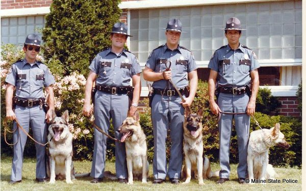 1980-Original K-9 unit Scarborough Barracks- Tr. Dennis McLellan K9 Ben-Tr. Dennis Hayden K9 Skipper-Tr. Bill Brusco K-9 Bronson-Sgt. Lloyd Williams